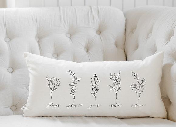 Wildflowers Lumbar Pillow