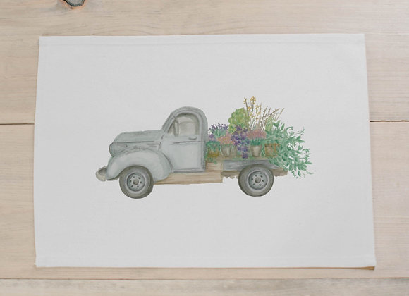 Floral Truck Watercolor Placemat