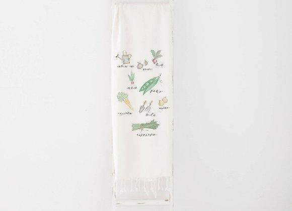 Vegetables Watercolor Throw Blanket
