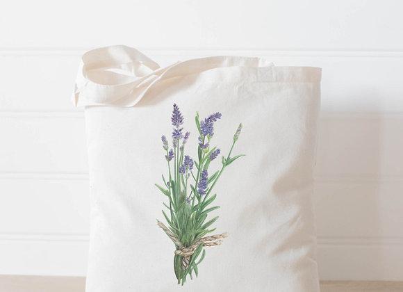 Lavender Watercolor Tote Bag
