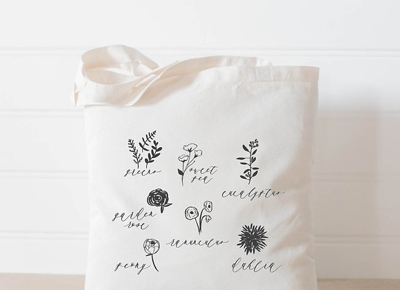 Flower Types Tote Bag