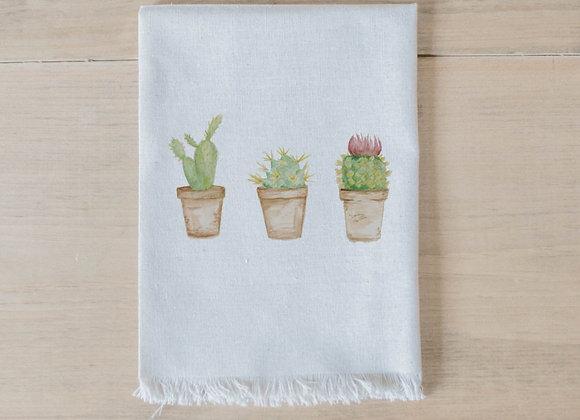 Cactus Watercolor Napkin