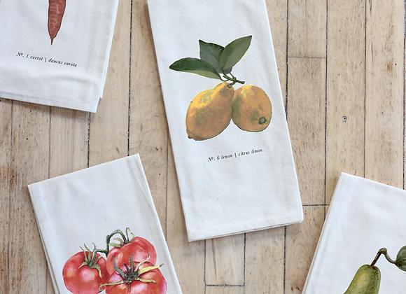 Fruits/Veggies in Color Tea Towel