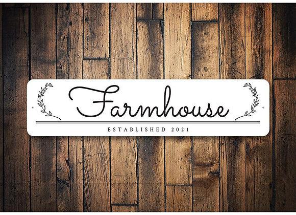 Artsy Farmhouse Established Sign