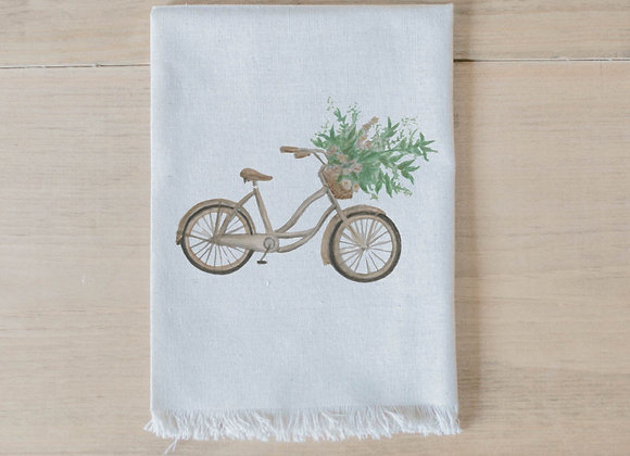 Floral Bike Watercolor Napkin