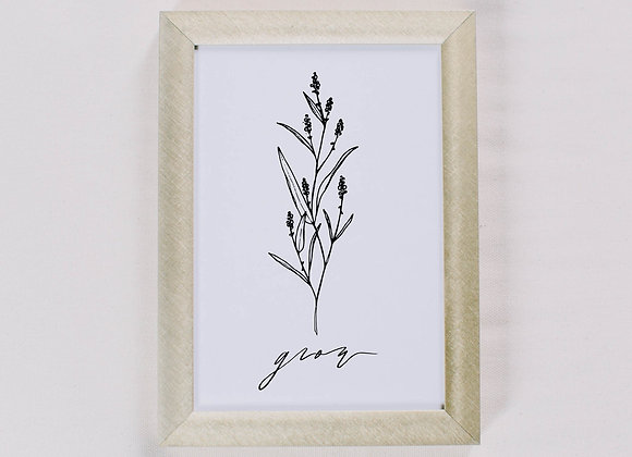 Grow Wildflower Print