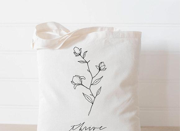 Thrive Wildflower Tote Bag