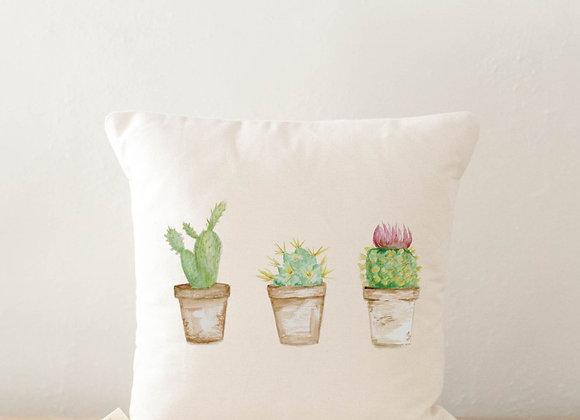 Cactus Watercolor Pillow