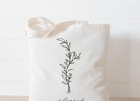 Flourish Wildflower Tote Bag