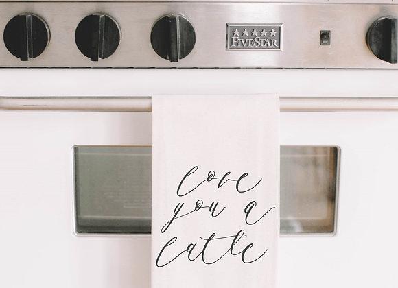Love You A Latte Tea Towel