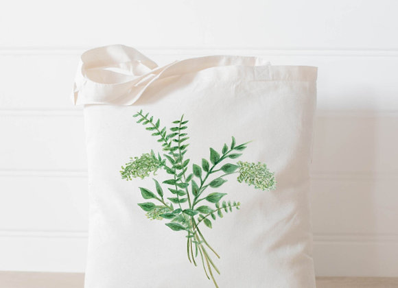 Eucalyptus Bunch Watercolor Tote Bag