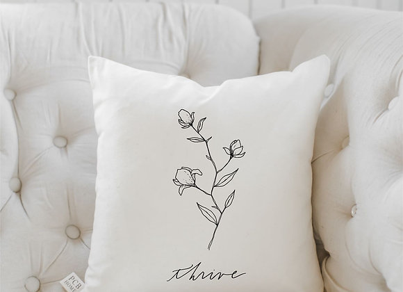 Thrive Wildflower Pillow
