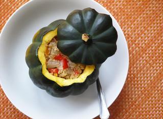 Quinoa & Vegetable Stuffed Pumpkins