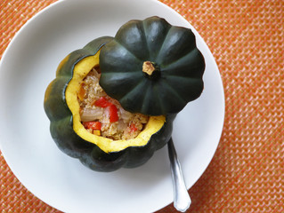 Quinoa & Vegetable Stuffed Pumpkins