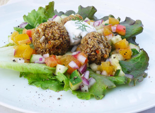 Falafel Wraps with Coconut Yogurt Sauce