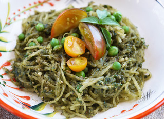 Spaghetti Squash with Basil & Kale Pesto