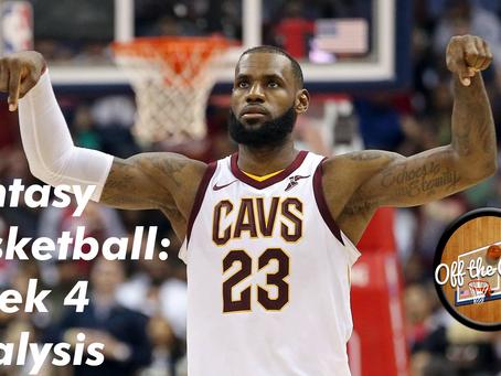 Fantasy Basketball: Week 4 Analysis