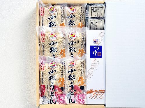小松うどん プレミアム「つづみ」冷だしセット(生麺|常温保存|冷やしつゆ付|12人前)