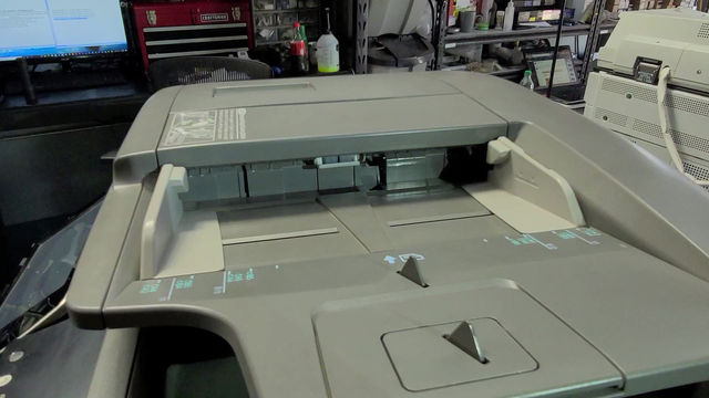 Sharp Copier Clearing Small Paper Stuck in ADF