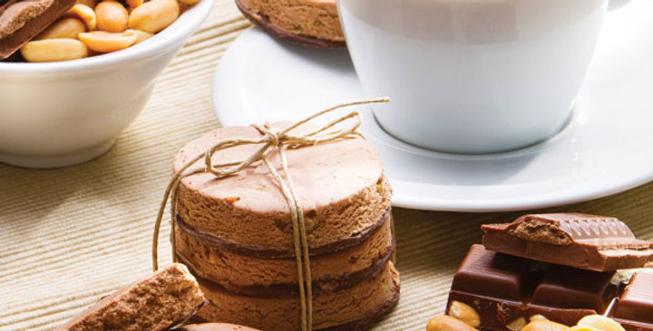 Chocolade pinda koek