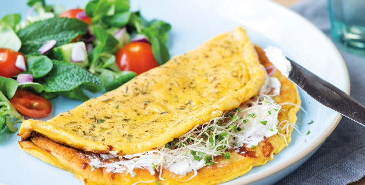 Omelet met kruiden