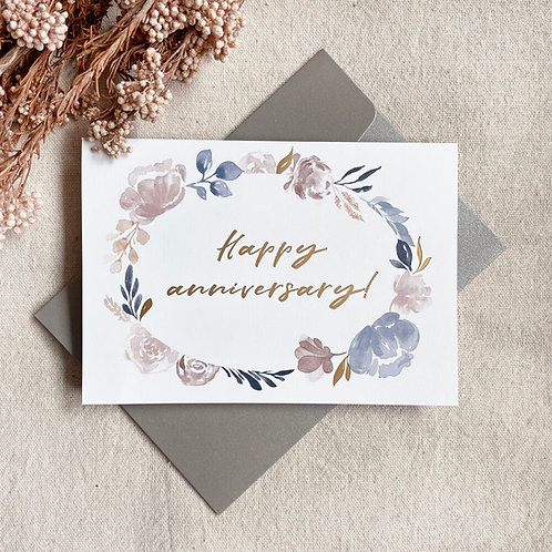 HAPPY ANNIVERSARY | GOLD-FOILED CARD