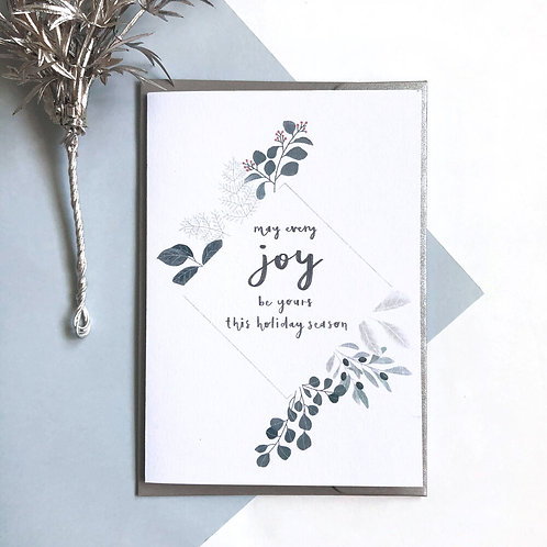 MAY EVERY JOY BE YOURS | CHRISTMAS CARD