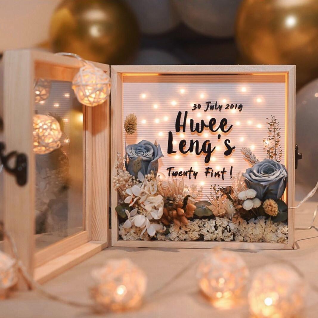 Customised Flower Box (Hwee Leng)
