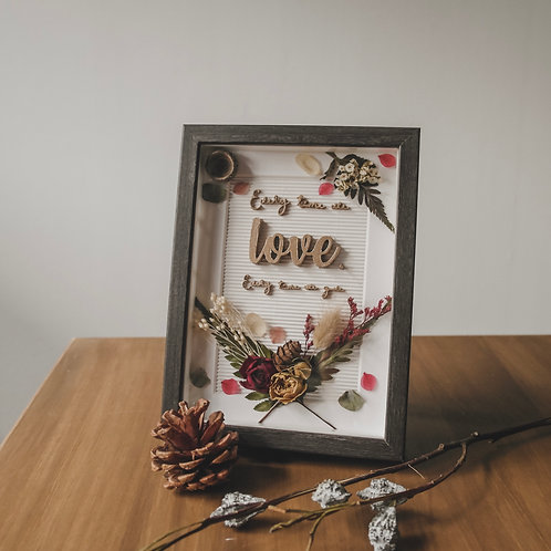 Every time we love, every time we give - Christmas Flower Frame '19