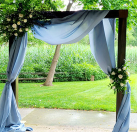 Blue and White Styled Arbor