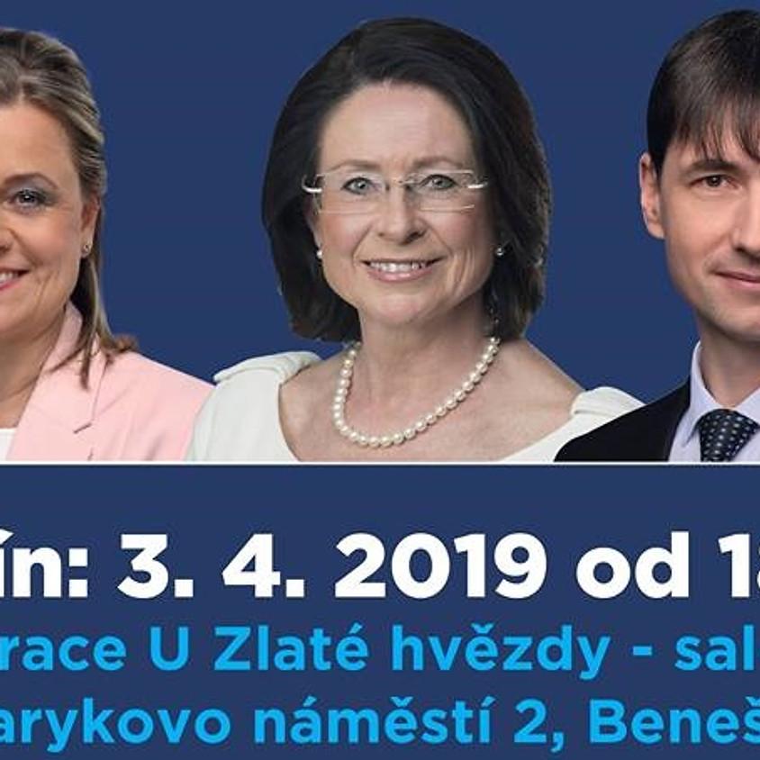 Debata s paní Miroslavou Němcovou a kandidáty ve volbách do EP