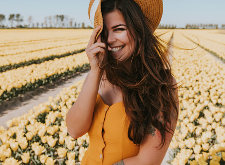 Portretten tussen de tulpen
