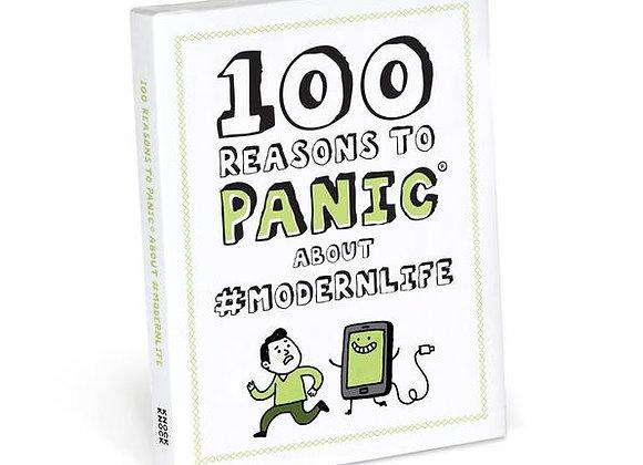 100 Reasons #Modernlife Panic Book