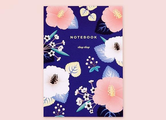 Hibiscus Blue Notebook
