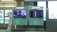 金浦空港内にはQLEDがいっぱい