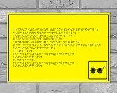 Тактильная табличка, шрифт Брайля, табличка для слепых