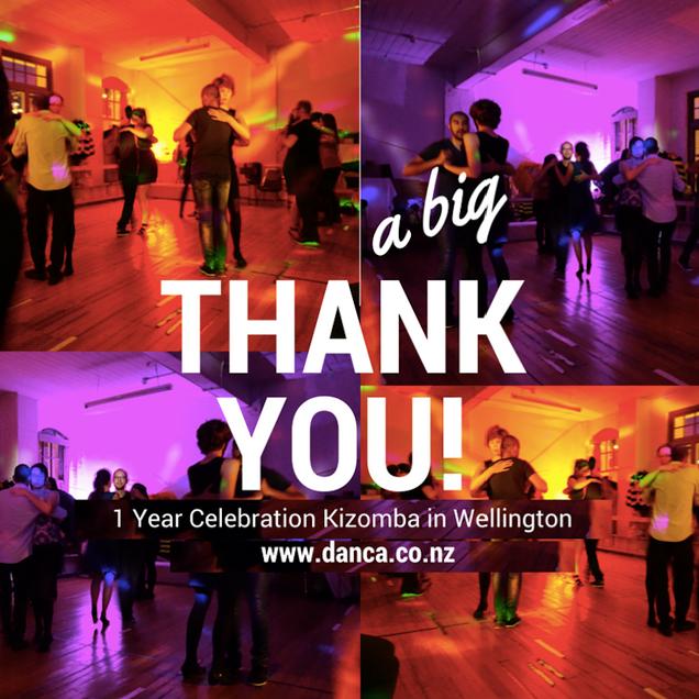 1 Year Celebration Kizomba in Wellington