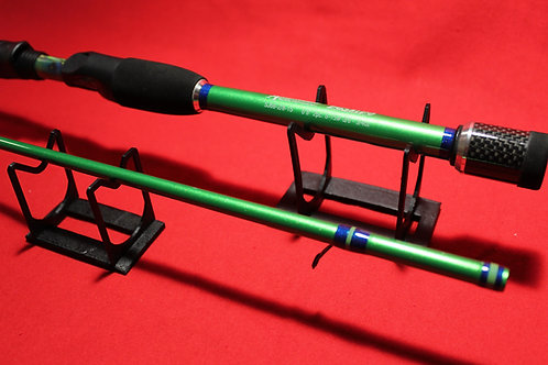 """6' 8"""" Handcrafted/Custom Painted Bass Spinning Rod"""