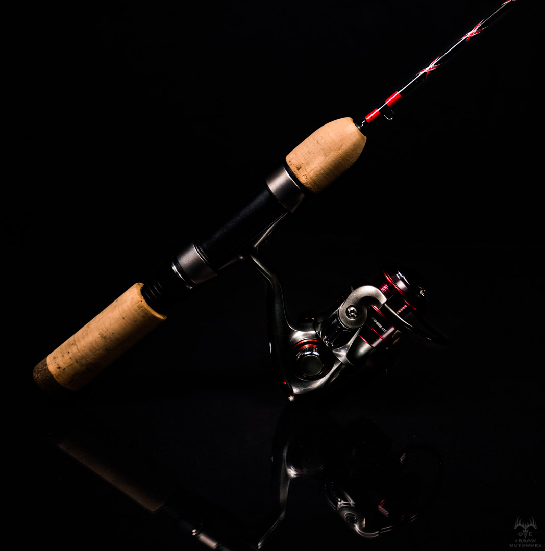 Custom Red and Silver Ice Rod