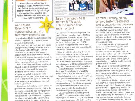Star Letter in the latest International Therapist Magazine!