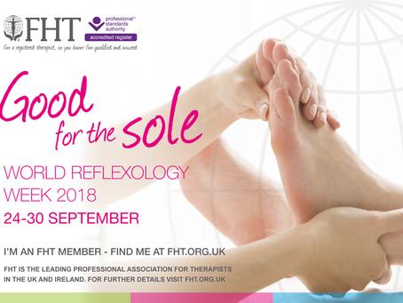 World Reflexology Week 24 - 30 Sept 2018