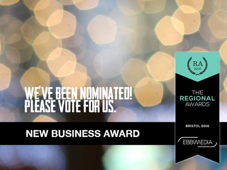"""Nominated for """"Best New Business"""" Award!"""