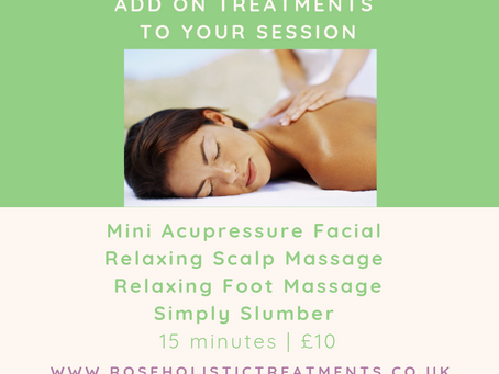 Add On Treatments To Your Session