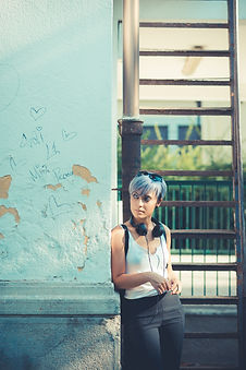 young-beautiful-short-blue-hair-hipster-