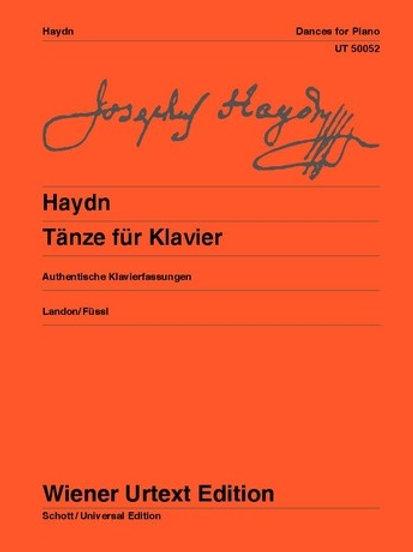 Joseph Haydn: Dances for piano Hob. IX:3, 8, 11, 12