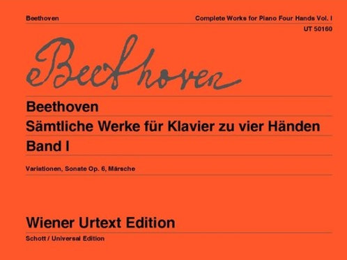 Ludwig van Beethoven: Works for piano 4 hands