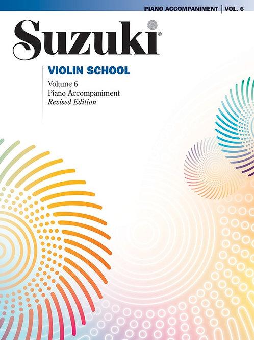 Suzuki Violin School Piano Acc., Volume 6 (Revised)