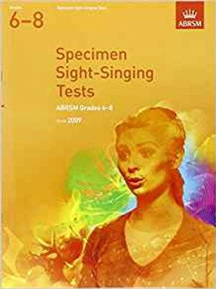 ABRSM: Specimen Sight-Singing Tests, Grades 6�V8