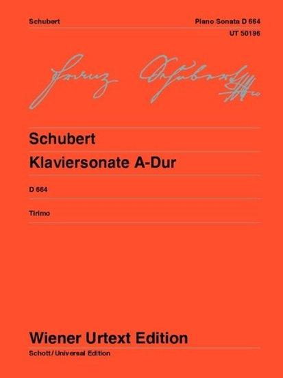Franz Schubert: Piano Sonata - A major for piano D664