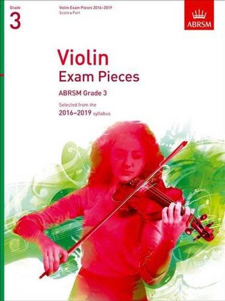 Violin Exam Pieces 2016�V2019, ABRSM Grade 3, Score & Part